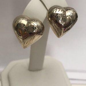 925 Puffy Heart Earrings
